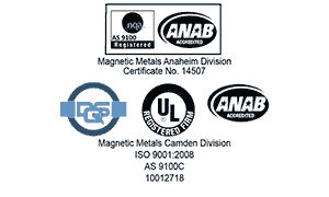 Magnetic Metals ISO 9001 certifications